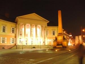 Das Markgräflich-Hochbergsche Palais am Karlsruher Rondellplatz